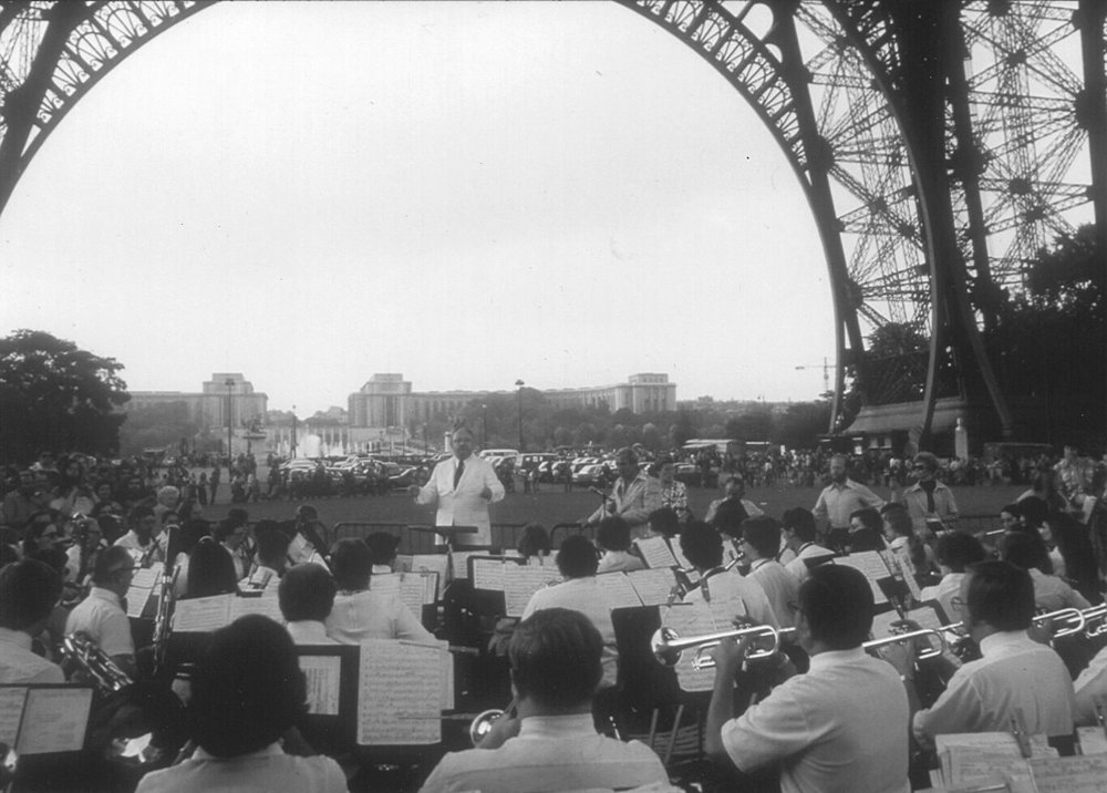 Northshore Concert Band on tour in Paris, 1975.