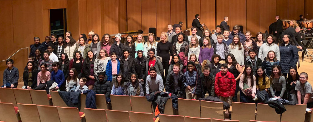 Band students from School District 56, Gurnee, Illinois