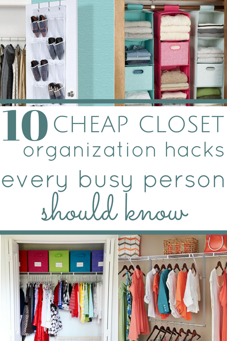 10 cheap closet organization hacks everyone should know home boss. Black Bedroom Furniture Sets. Home Design Ideas