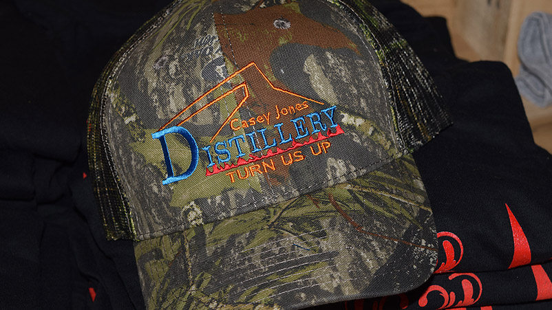 Our Casey Jones Distillery hats are available in camo as well as multiple colors.