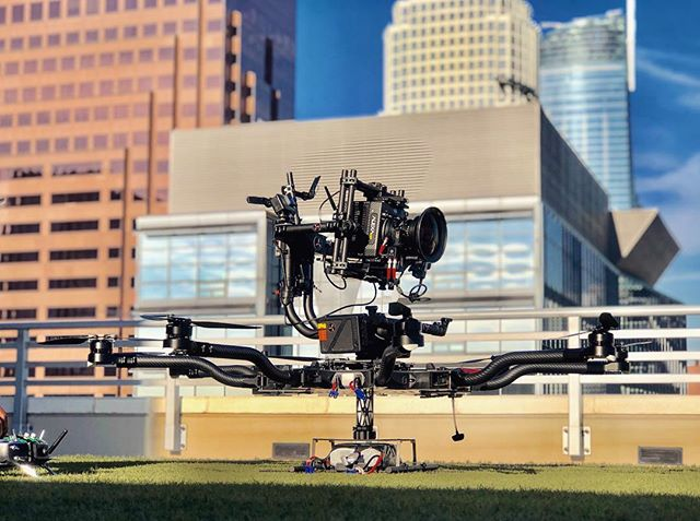 Top mounted downtown skyline views. #gabedlp #aerialcinematography #freeflysystems #alexamini #panavision #hoverglobal