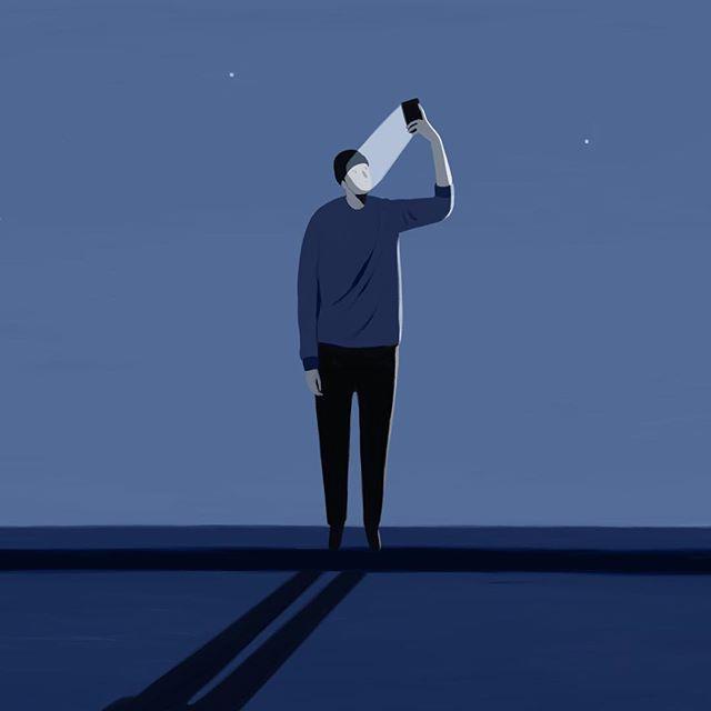 Unused piece 🗑 #mood #illustration #animation #night #cleaning