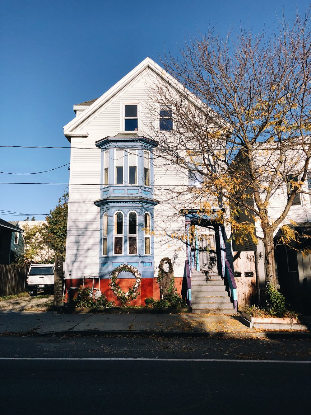 Walking through Munjoy Hill, a neighborhood in east Portland