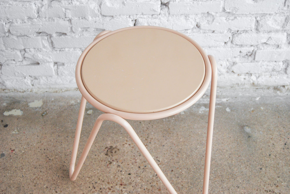Soft Coral Side Table