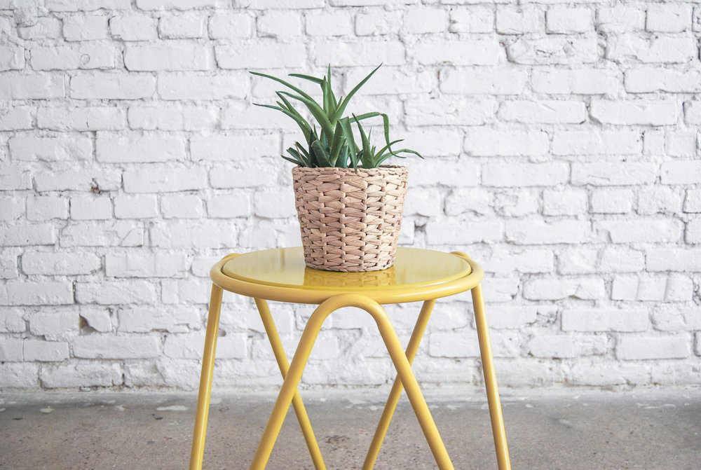 Mustard Yellow Side Table