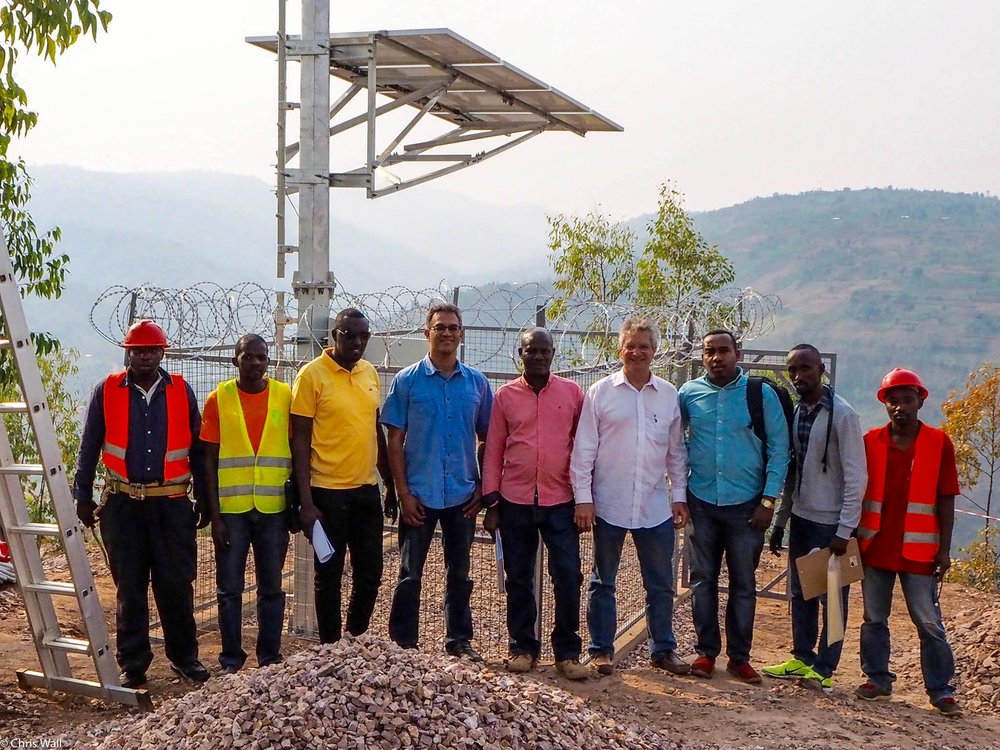 Our colleague    Vanu Bose  with other leaders in broadband connectivity deployment innovation in Rwanda. We honor his memory.
