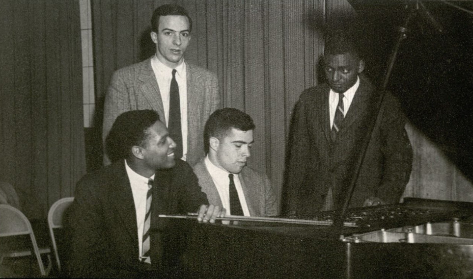 Wilson with the Harvard New Jazz Society in 1954. (Photo via Harvard Yearbook Publications)