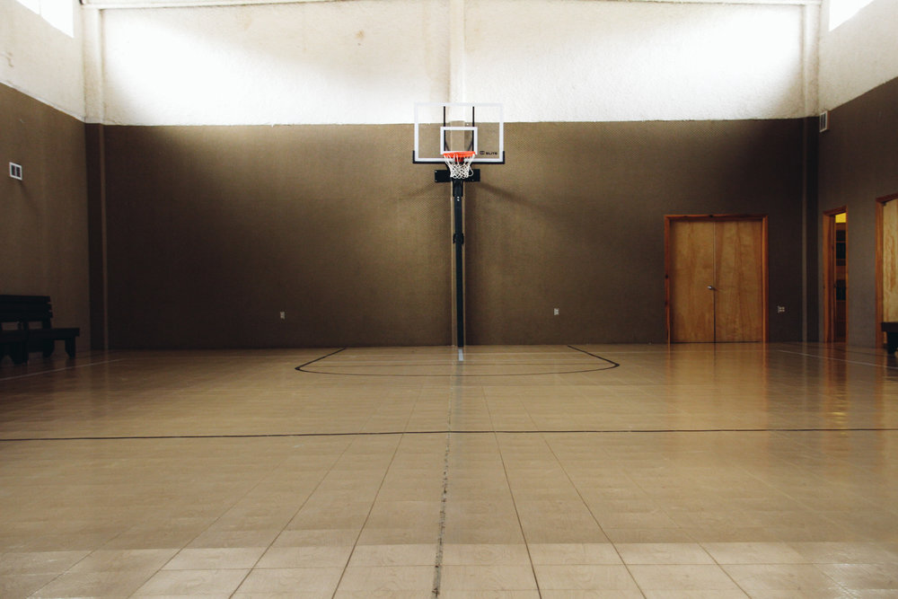 Our Indoor Gym with two basketball hoops