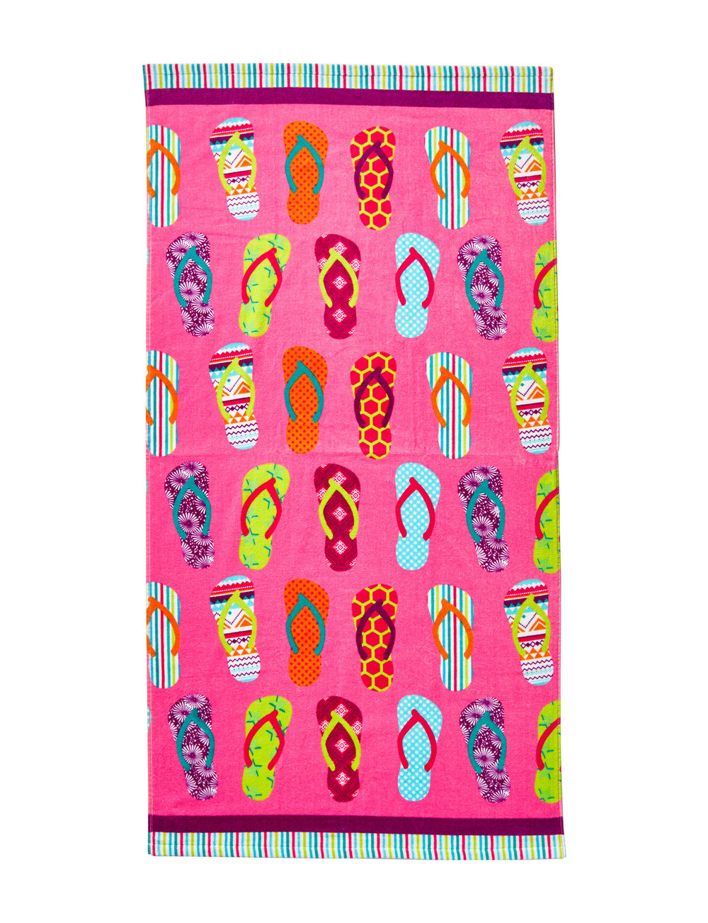 Print Velour Beach Towels