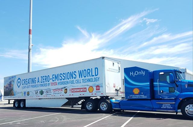 Exciting innovations on display at the Zero Emissions Transportation Briefing! #portofla #portofhuenem e #toyota #kenworth #californiaairresourcesboard #scaqmd #fuelcell #zeroemissions #shoretostore