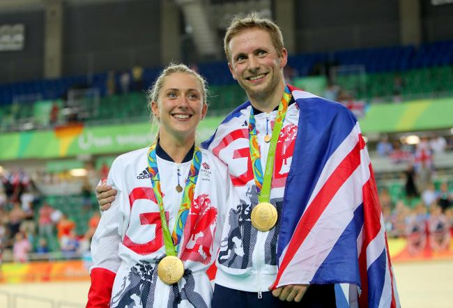 Laura and Jason Kenny provided a signed and framed GB cycling jersey from the Gold medal winning Olympians -