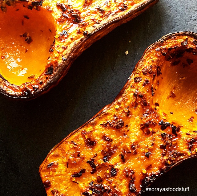 Karameliserede butternutsquash