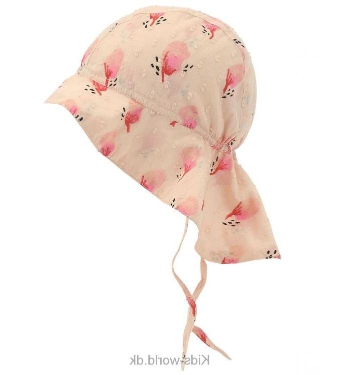 Soft Gallery Sommerhat - Val - Smuk sommerhat fra Soft Gallery med i pudder med et smukt print og med bindebånd og elastik i nakken.