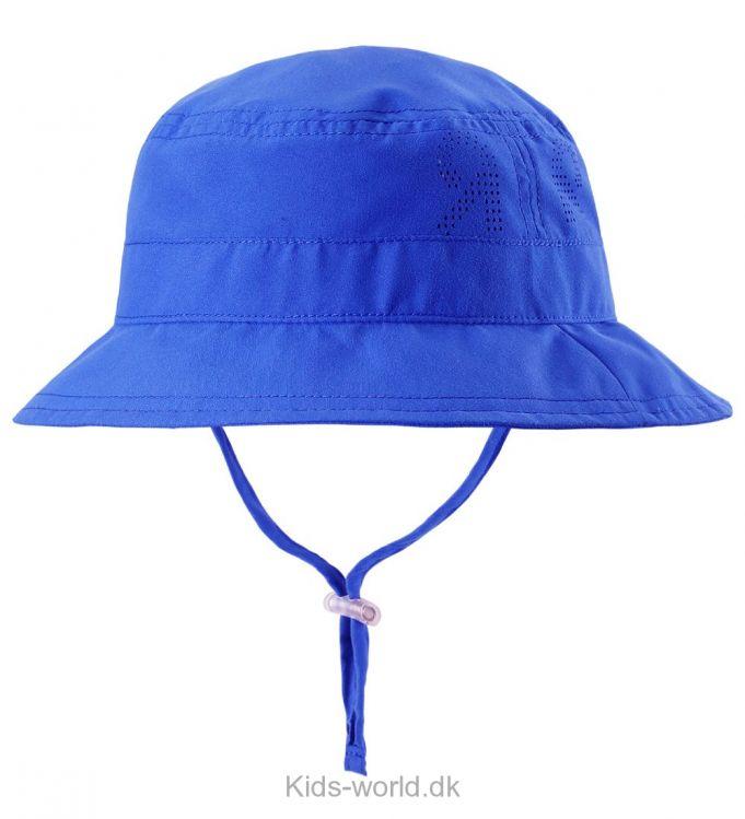 Reima Bøllehat - UV50 - Bøllehatten har en rund hovedform med en bred skygge, med to bånd så længden kan justeres. Den er åndbar, hurtigtørrende og lavet i letvægtsmateriale. Samt en UV faktor på 50+.