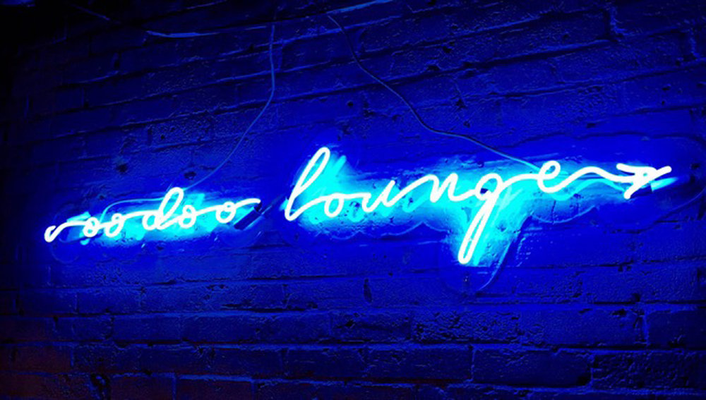 "Voodoo Lounge, Boston, MA. McGonagle Fine Art and Neon work ""Contemporary art with a conceptual twist""."