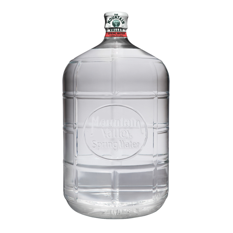 5 Gallon Glass Spring Water $21.00 ea.  Each bottle has an initial $15.00 deposit