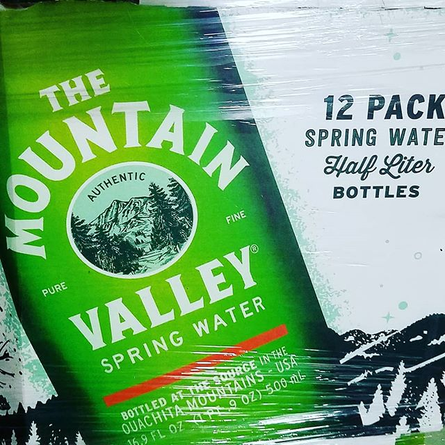 Mountain Valley's new packaging has arrived. So excited!! #Bishopswater #wateringreenbottles #mountainvalleyspringwater #wateringlassbottle #Stayhydrated
