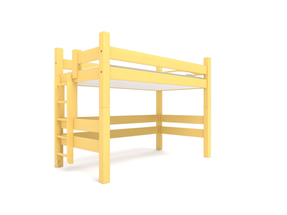 """ Bates "" Loft -  Either a standard Twin or Full Loft bed with open space underneath for a desk or storage area.  California Gold .  Starting at $1995"