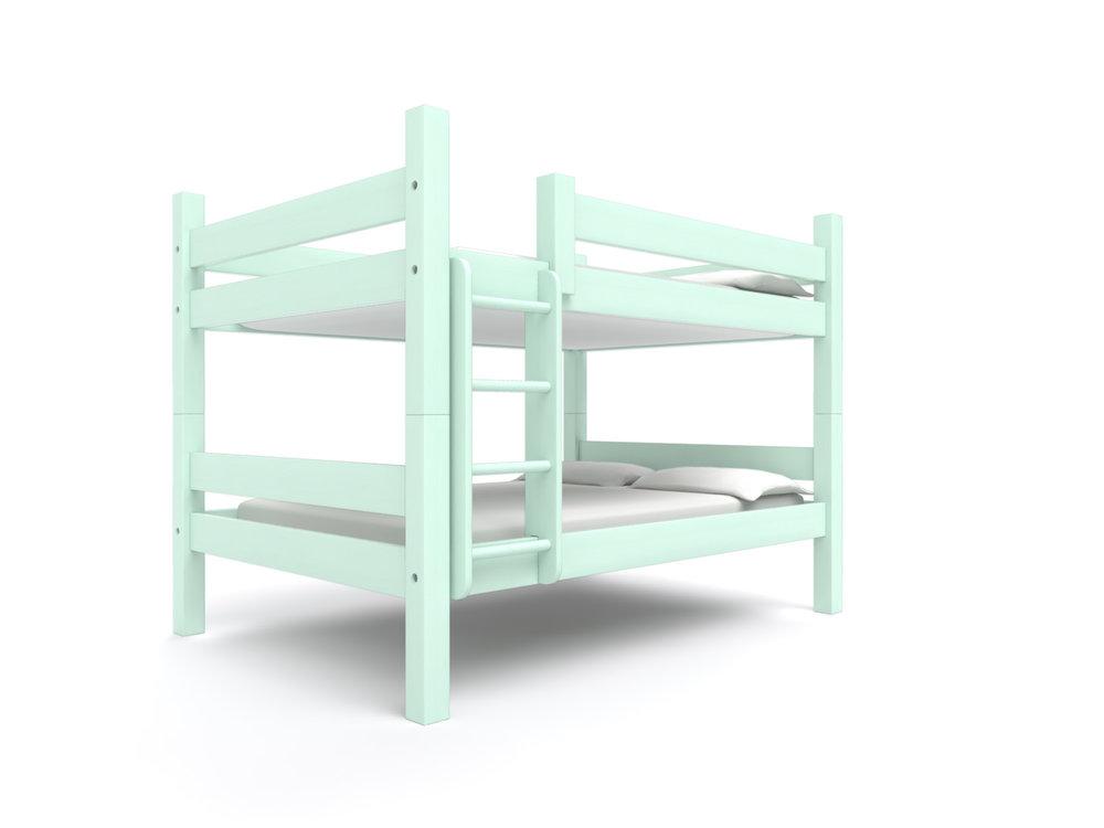 """ Camden "" Full-over-Full -  Our most spacious bunk bed. Holds two 75"" long full beds. Options include extra length or height, a trundle or storage drawers.   Nantucket Spray   Starting at $2695"