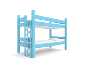 """PORTHOLE"" LADDER   - Circular steps replace the traditional rung ladder used for most bunk beds. Available on all sizes of bunk beds and lofts.   Beaufort Blue   Ladder: $200"