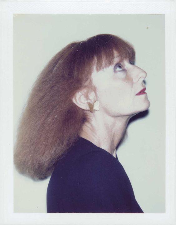 Sonia Rykiel, photographiée par Andy Wharol en 1986.