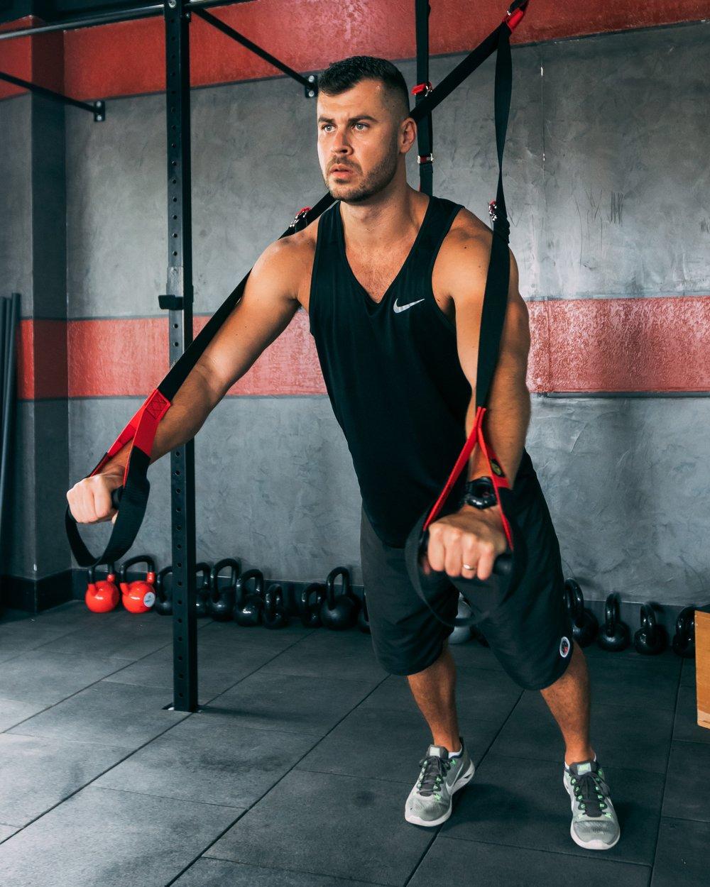 Push Up Variation on a TRX/Suspension Trainer