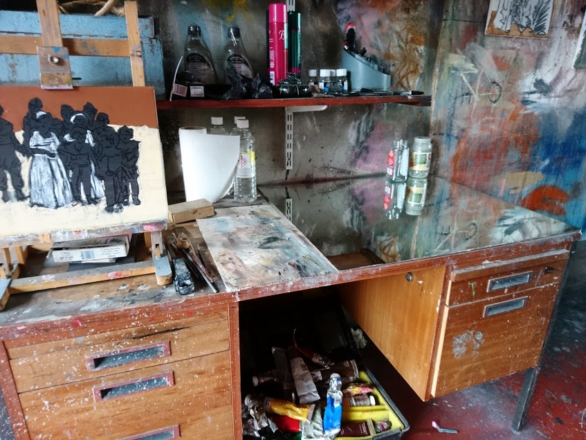 My painter's table of 8 years.