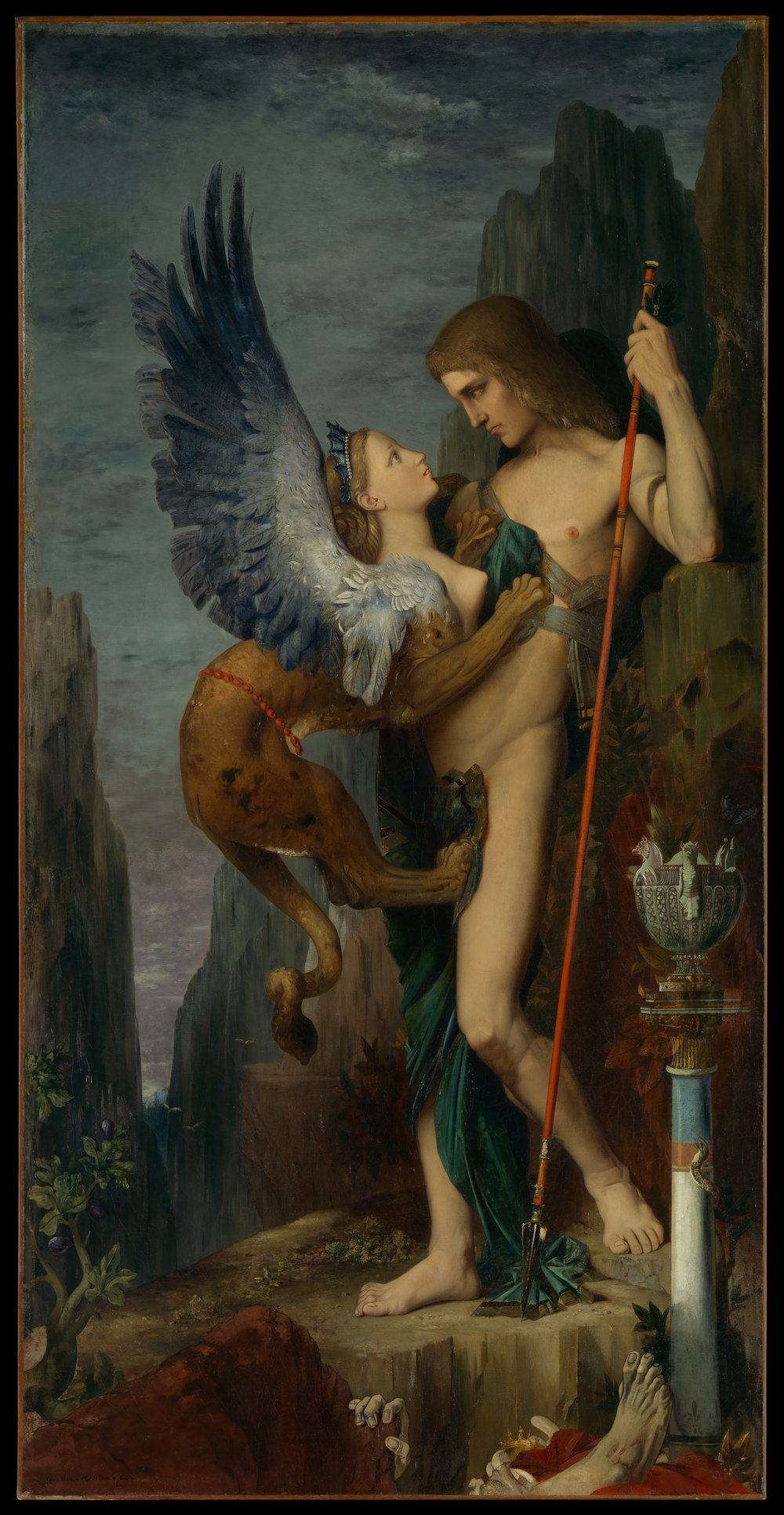 """Oedipus and the Sphinx"",   Gustave Moreau, 1864, The Metropolitan Museum of Art, New York"