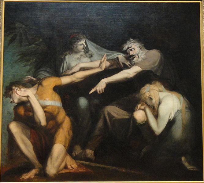 """Oedipus Cursing His Son, Polynices"", by Henry Fuseli, 1786, oil on canvas - National Gallery of Art, Washington, DC, USA"