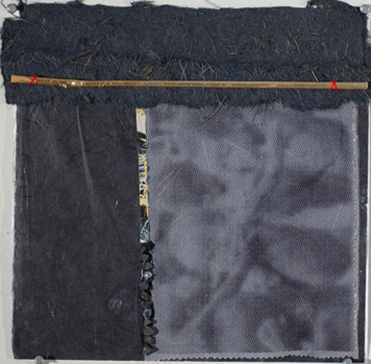 """Begging for Stones   Mixed Media on Paper  14X14""""  2012"""
