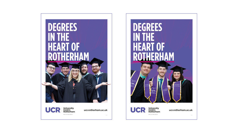 University Advertising Campaign - 6 Sheets - Graphic Design Sheffield
