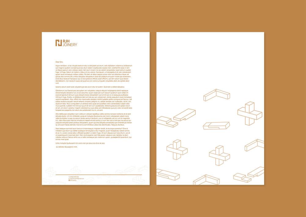 RJH Joinery - Letterheads - Branding Development - Graphic Design Sheffield