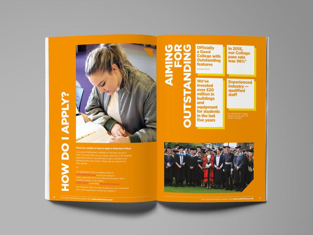College Course Guide Design - Publication Design - Graphic Design Sheffield