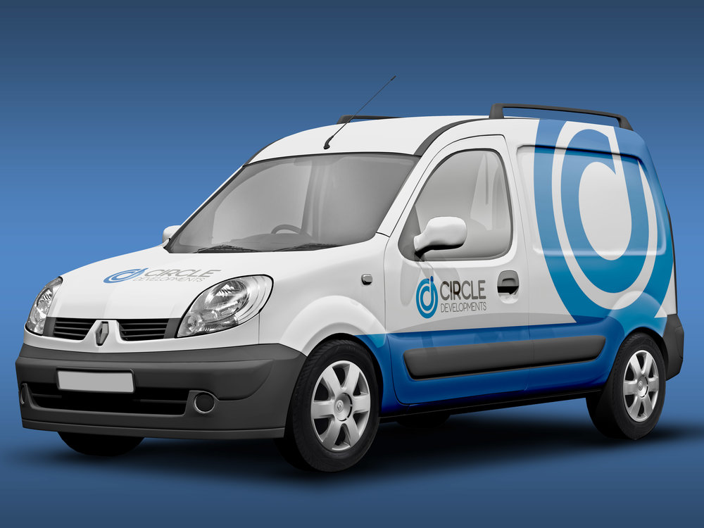 Circle Developments - Branding Development - Vehicle Signage - Graphic Design Sheffield