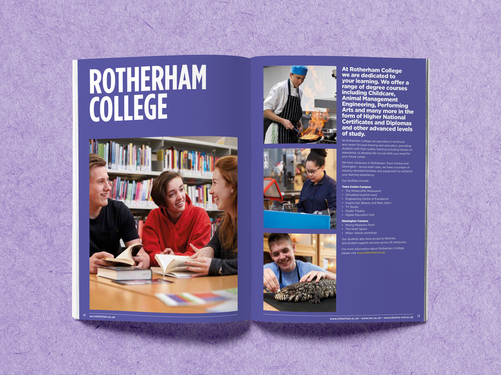 Prospectus Design - Graphic Design Sheffield