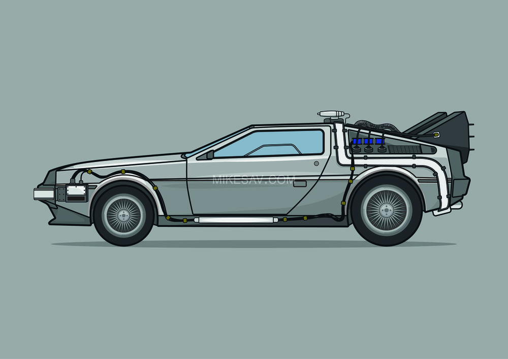 Delorean Time Machine / Back To The Future (1985) / Director: Robert Zemeckis