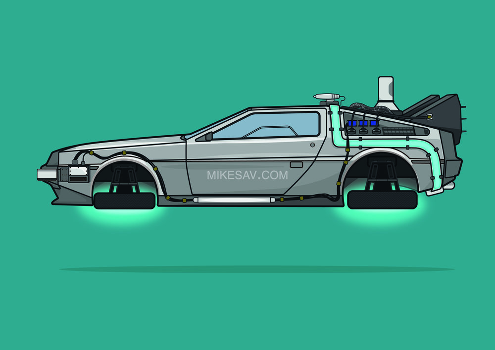 Delorean Time Machine / Back To The Future 2 (1989) / Director: Robert Zemeckis