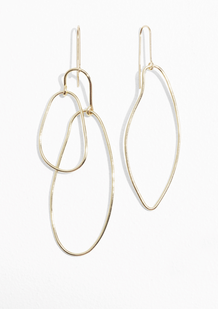 4. Odd earrings - Mismatched earrings signal a trend that will carry on for the year ahead. £23, & Other Stories