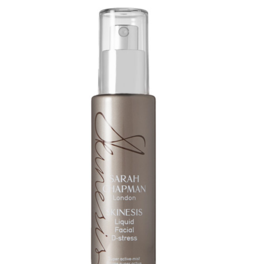4. Sarah Chapman Liquid Facial D-stress, £42. - This spray cools any sticky situation, smells delicious and is loaded with moisture magnets and skin soothing actives.