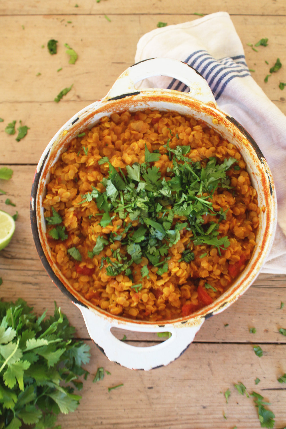 A household favourite, red lentil dahl is not only cheap at 47p per serving, but full of flavour. - prep time 5 mins     total time 30-60 mins      serves 4