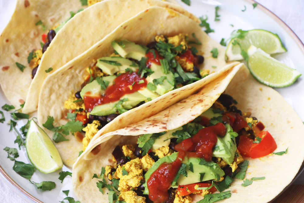 If you're not a sweet breakfast fan, these tofu tacos are the perfect option for you.  - prep time  5 mins     total time  20-25 mins    serves 2-4