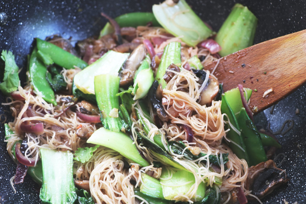Just one pot is needed for this extra easy and colourful noodle dish. - prep time 5 mins    total time 10-15 mins     serves 2