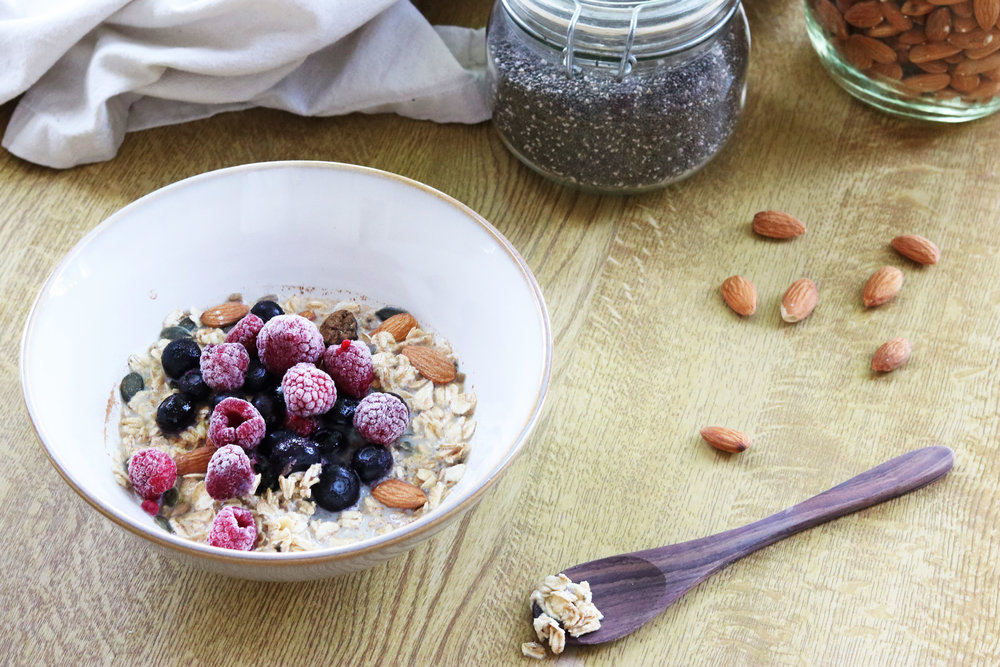 No need to meal prep, or buy pre-mixed muesli, mix up your own in five minutes, and for just 81p. - prep time 5 mins total time 5 mins serves 1