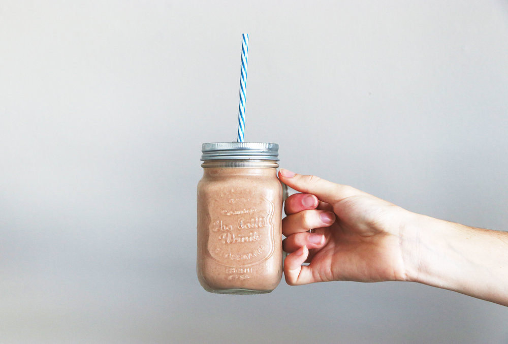 A vegan spin on your classic chocolate milkshake, and for only 74p! - total time 5 mins     serves 1
