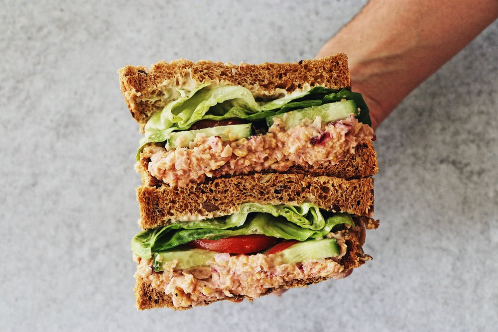 No fish needed for this delicious sandwich filler, and it's just 5 ingredients! - total time 5-10 mins     serves 4