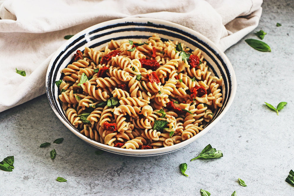 Fresh, filling and full of flavour, this pasta needs just 5 ingredients and 15 minutes of your time! - prep time 10 mins     total time 15 mins     serves 4