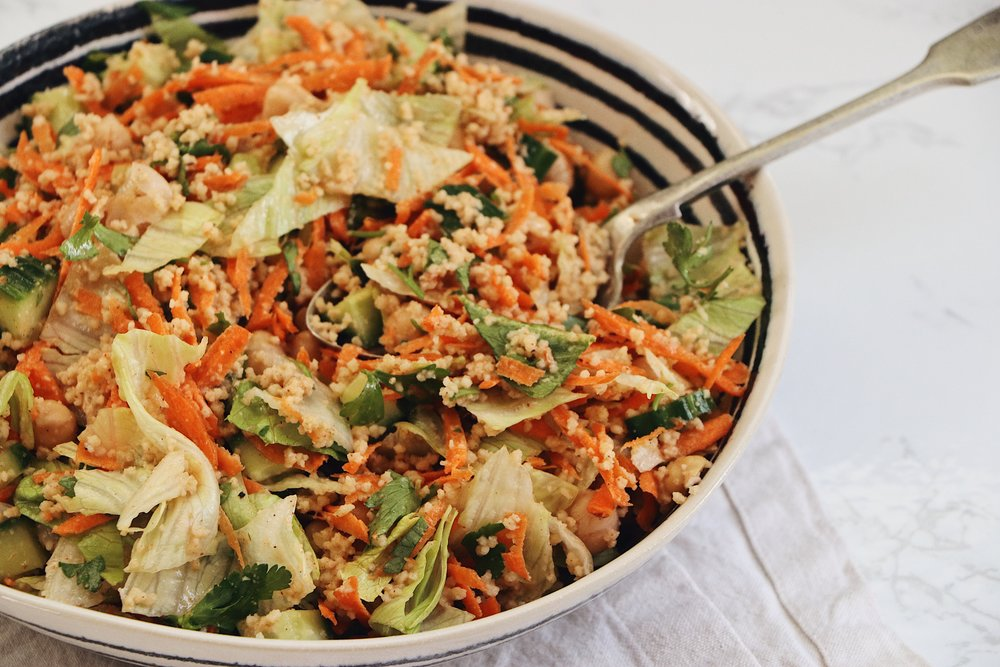Affordable, quick and totally yummy, this salad is perfect for your weekly meal prep. And only 61p per portion! - prep time 5 mins    total time 10 mins     serves 4