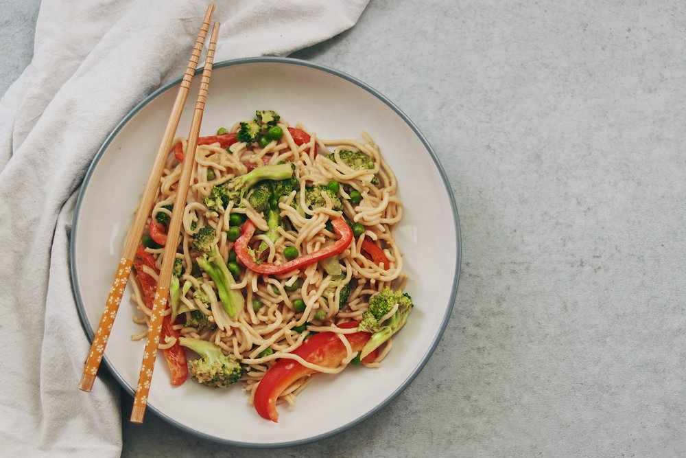 You don't have to reach for the packet of instant ramen or call for takeaway with this super easy microwave-friendly noodle dish! - prep time 5 mins total time 15 mins serves 2