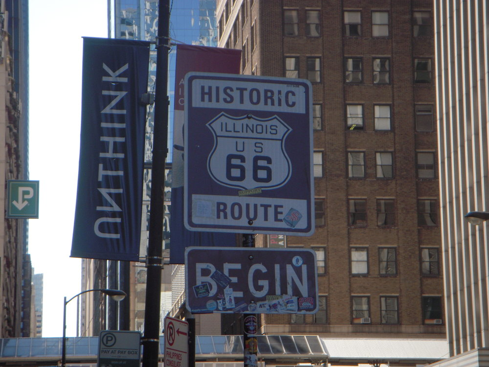Don't rely on following road signs along route 66 - many are missing