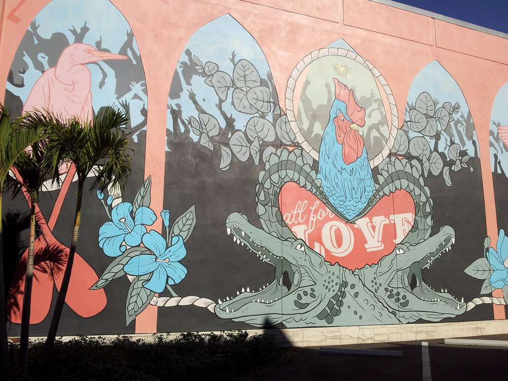 dOWNTOWN TAMPA IS FILLED WITH BEAUTIFUL STREET ART
